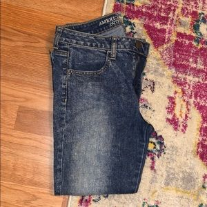 American Eagle Acid Washed Cropped Jeans